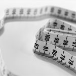 tape measure as a visual representation of diet mentality